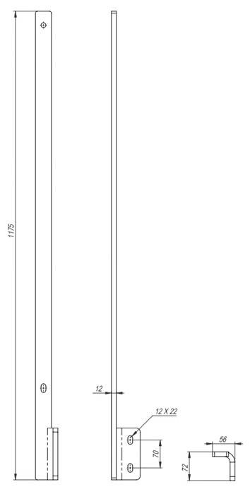 Galvanisert rekkverksstolpe, sidemontert - Bolig Engros AS