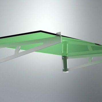 Glassbaldakin 190300 i syrefast stål - Bolig Engros AS